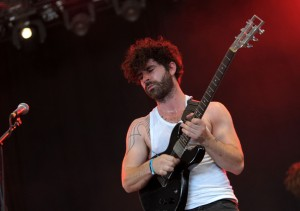 Yannis Philippakis, lead singer of Foals.